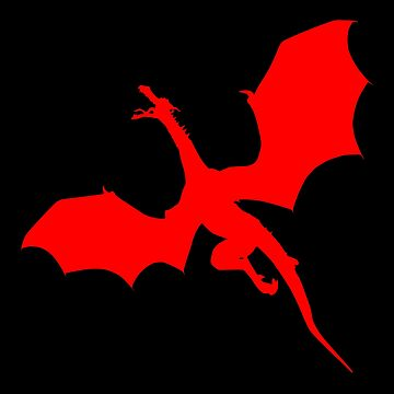 Flying Angry Red Dragon Design, Upset Red Dragons Ready To Attack by LuckDragonGifts
