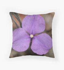 Silky Purple Flag (Iris) Throw Pillow