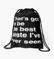 PIR White  Drawstring Bag