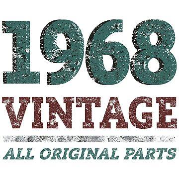 1968 50th Birthday Vintage Retro by MMchen