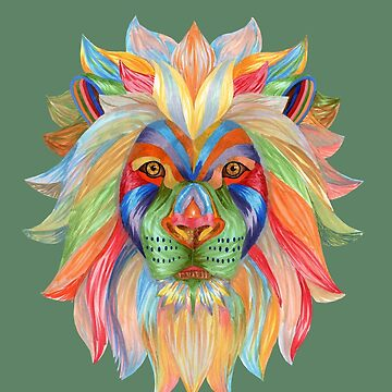 Psychedelic Lion by LindaMcM8