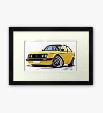 Ford Escort (Mk2) RS2000 Yellow Framed Print