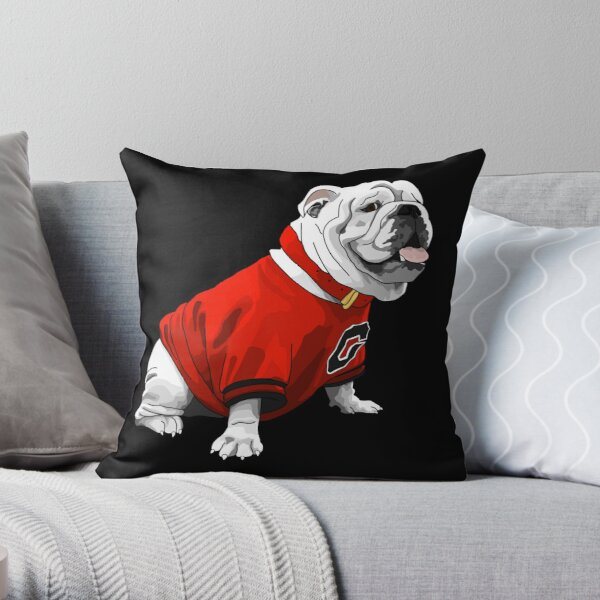 UGA Bulldog Throw Pillow