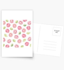 Watercolor Grapefruit and Limes Postcards