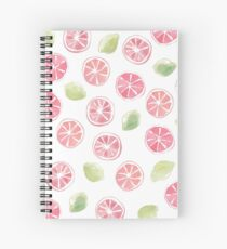 Watercolor Grapefruit and Limes Spiral Notebook