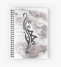 Berkana Rune im Tribal Tattoo Style Spiralblock