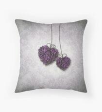 Cojín Corazones púrpuras