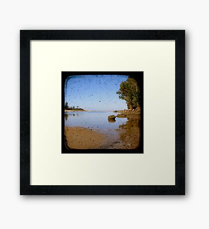 Lake Cathie Through The Viewfinder (TTV) Framed Print