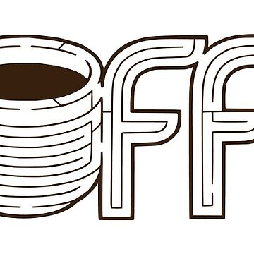 Coffee Maze | Hand-Lettering Cup of Joe Puzzle by ImaginaryAnimal