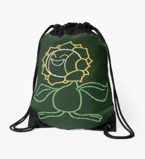 Minimal Sunflower Pokemon Drawstring Bag