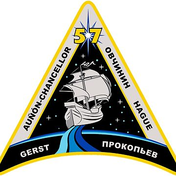 Expedition 57 Mission 3rd (no Tikhonov) Emblem by Spacestuffplus