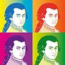 Wolfgang Amadeus Mozart im Cartoon Style von Bach4you