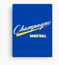Champagne Basket 1 Blue Canvas Print