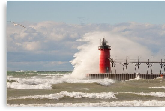 Lighthouse, South Haven, Michigan-4 by Robert Kelch, M.D.