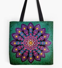 Purple & Green Dot Mandala - Art&Deco By Natasha Tote Bag