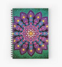 Purple & Green Dot Mandala - Art&Deco By Natasha Spiral Notebook