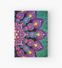 Purple & Green Dot Mandala - Art&Deco By Natasha Hardcover Journal