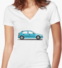 Rover 25 / MG ZR Women's Fitted V-Neck T-Shirt
