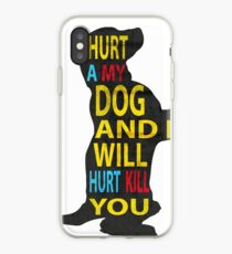 Don't hurt dogs. iPhone Case
