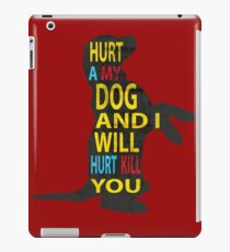 Don't hurt dogs. iPad Case/Skin