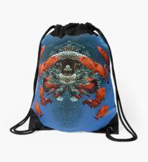 Digital Art - Underwater Drawstring Bag