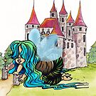Fairy Baby Playing with a Castle by Wendy Crouch