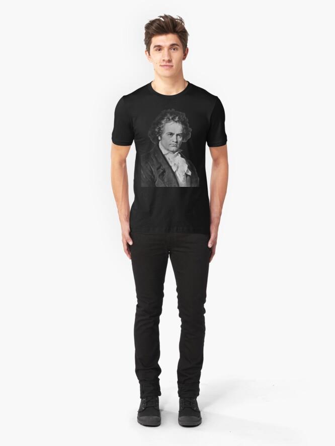 Alternate view of Ludwig van Beethoven Slim Fit T-Shirt