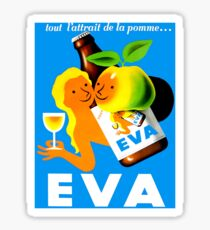 EVA ; Vintage Apple Juice Advertising Print  Sticker