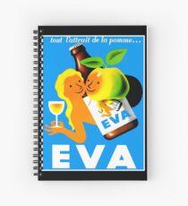 EVA ; Vintage Apple Juice Advertising Print  Spiral Notebook