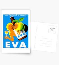 EVA ; Vintage Apple Juice Advertising Print  Postcards