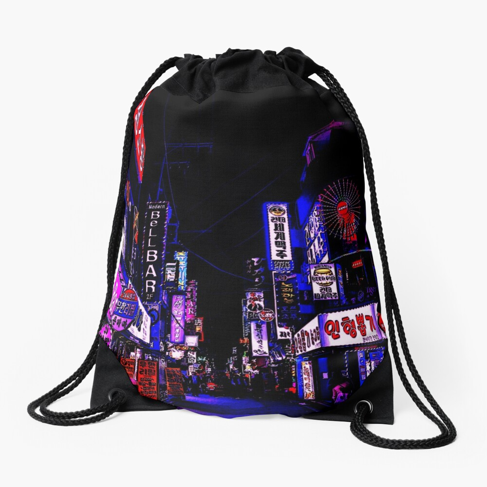 anime nights Drawstring Bag