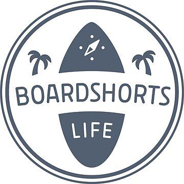 Boardshortslife minimalistisches Logo, blau von Boardshortslife