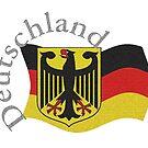 Deutschland, Eagle and Flag by edsimoneit
