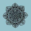 Black Mural Mandala - Art&Deco By Natasha by ArtDecoNatasha