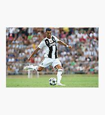 Cristiano Ronaldo Juventus Erstes Spiel Fotodruck
