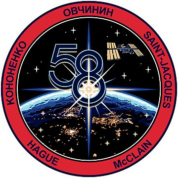 The Expedition 58 First Amended Emblem! by Spacestuffplus