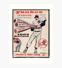 Yankees Yearbook- Vintage Art Print