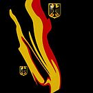 German Abstract Flag with Eagle Design by edsimoneit