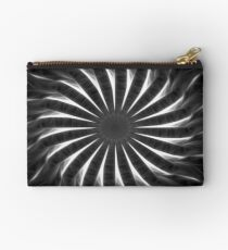 Gray Kaleidoscope Art 10 Studio Pouch