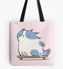 Speed Demon - Skateboarding Kitty Cat Tote Bag