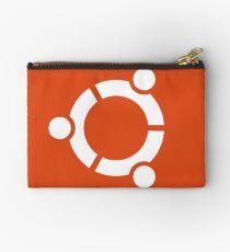 Ubuntu logo orange / white Studio Pouch