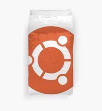 Ubuntu logo orange / white Duvet Cover