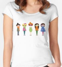 Hipster girl fashion set Women's Fitted Scoop T-Shirt