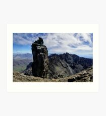 Climbers on Sgurr Dearg (the  Inaccessible Pinnacle) Art Print