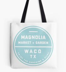 Magnolia Market Blue Tote Bag