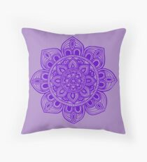 Blue Mural Mandala - Art&Deco By Natasha Throw Pillow