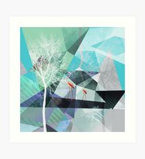 FLAMINGOS P19-A2 Art Print