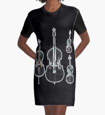 The Four Strings - Violin, Viola, Cello, Bass  Graphic T-Shirt Dress