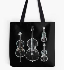 The Four Strings - Violin, Viola, Cello, Bass  Tote Bag
