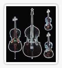 The Four Strings - Violin, Viola, Cello, Bass  Sticker